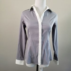 Express essential long sleeve shirt sz XS gray